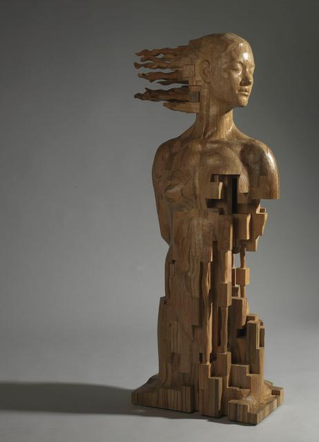 Glitch wood carving, Hsu Tung Han